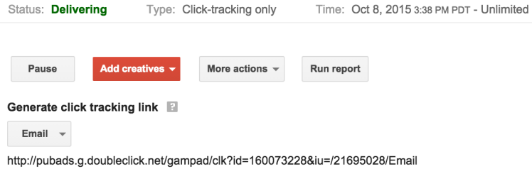 DFP email click tracking redirect not working? Try this