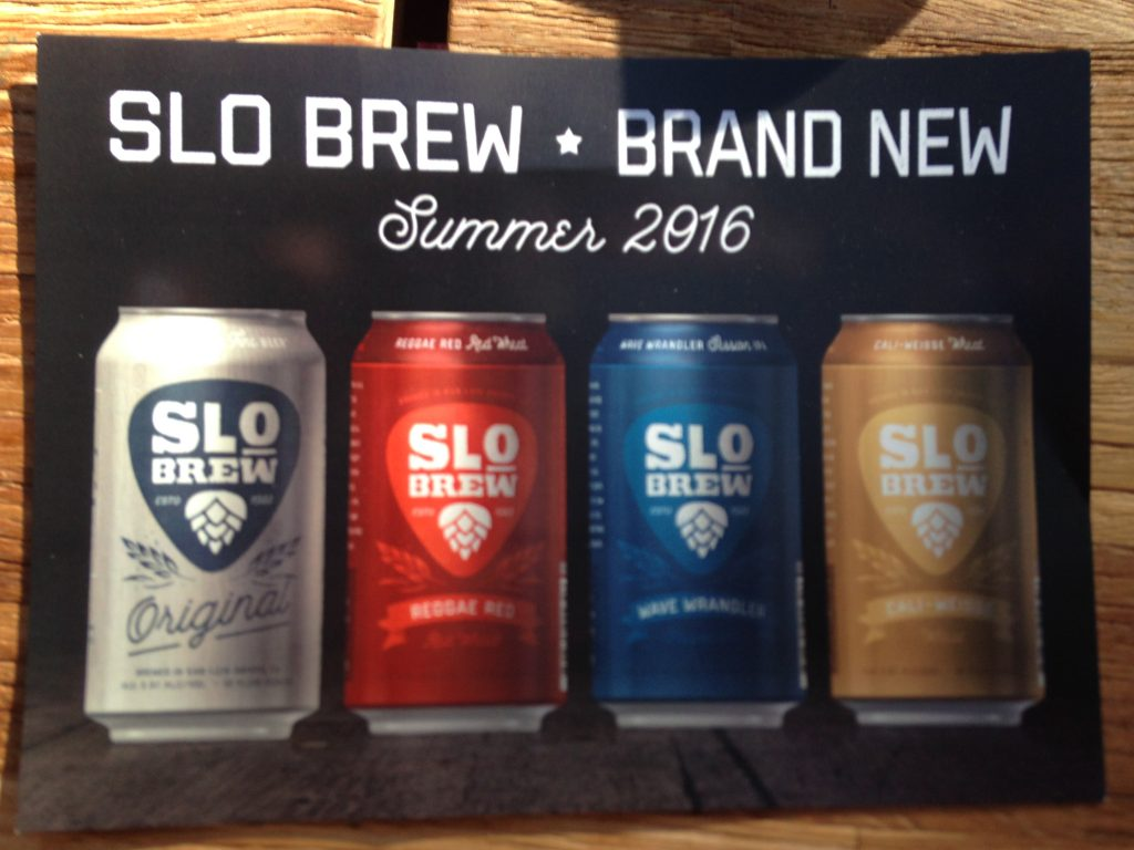 SLO Brew pamphlet front